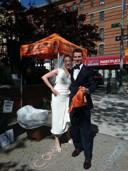 wedding day composting